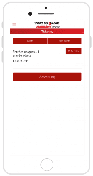 FVS Group ticketing on mobile